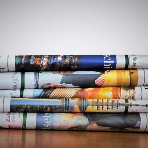 Reading newspapers and magazines