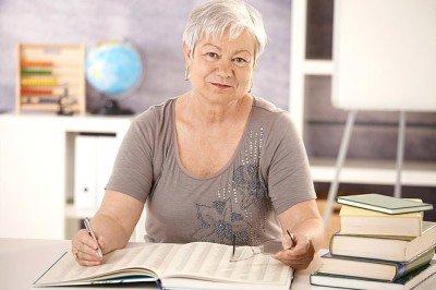 Insegnante sulla via della pensione